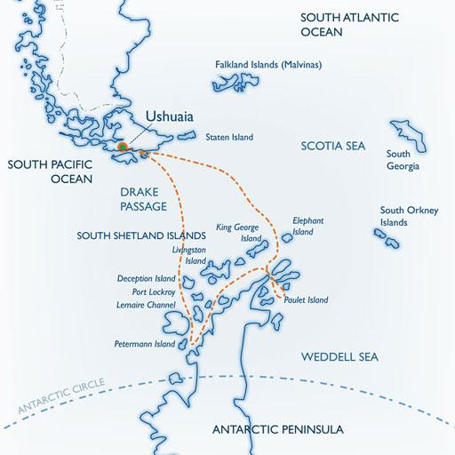 Classic Antarctic map