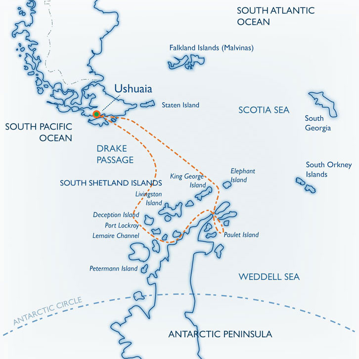 Weddell Sea Quest Map